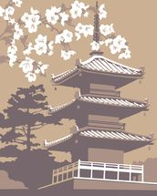 Japan mural wallpaper thumbnail