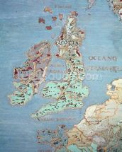 Map of Sixteenth Century Britain and Northern France, from the Sala del Mappamondo (Hall of the World Maps) c.1574-75 (fresco) (detail of 95818) mural wallpaper thumbnail