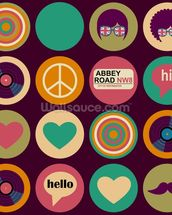 Pop Art - British Musical Pattern wallpaper mural thumbnail