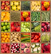 Fruit and Vegetable Collection wall mural thumbnail