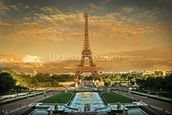 Eiffel Tower Paris wallpaper mural thumbnail