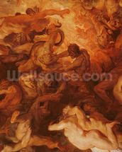Detail of the Small Last Judgement, c.1620 (oil on panel) (see 206400) wall mural thumbnail