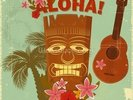 Hawaiian Music wall mural thumbnail