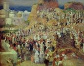 The Mosque, or Arab Festival, 1881 (oil on canvas) wall mural thumbnail