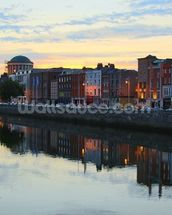 Dublin at Dusk wallpaper mural thumbnail