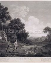 Shooting, plate 2, engraved by William Woollett (1735-85) 1770 (fifth state engraving and etching) wall mural thumbnail