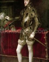 King Philip II (1527-98) 1550 (oil on canvas) wall mural thumbnail