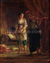 Interior of a Harem in Oran, c.1847 (oil on canvas) wallpaper mural thumbnail