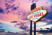 Welcome to Las Vegas Sign at Sunset wall mural thumbnail