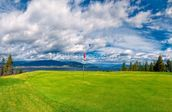 Golf Tee at Kelowna Lakeshore Road Okanagan Valley BC mural wallpaper thumbnail