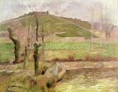 Landscape near Pont-Aven, 1888 (oil on canvas) wall mural thumbnail