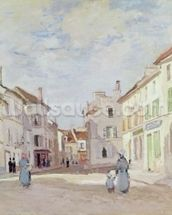 Rue de la Chaussee at Argenteuil (oil on canvas) wall mural thumbnail