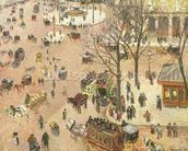 Place du Theatre Francais, 1898 (oil on canvas) wall mural thumbnail