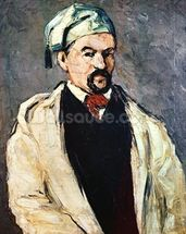 Portrait of a Man in a Blue Cap, or Uncle Dominique, c.1866 (oil on canvas) mural wallpaper thumbnail