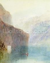 Tells Chapel, Lake Lucerne, c.1841 (w/c with pen on paper) wall mural thumbnail