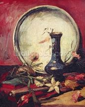 Still Life with Flowers, c.1886 (oil on canvas) wallpaper mural thumbnail