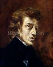 Frederic Chopin (1810-49) 1838 (oil on canvas) wall mural thumbnail