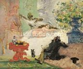 A Modern Olympia, 1873-74 (oil on canvas) wall mural thumbnail