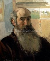 Self Portrait, 1873 (oil on canvas) wall mural thumbnail