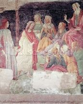 Young Man Greeted by Seven Liberal Arts, from the Villa Lemmi (fresco) wallpaper mural thumbnail