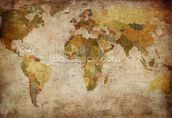 Old Style World Map wall mural thumbnail
