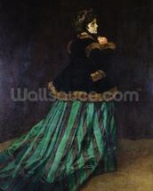 Camille, or The Woman in the Green Dress, 1866 (oil on canvas) mural wallpaper thumbnail