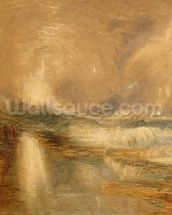Rockets and Blue Lights, 1855 (chromolitho) mural wallpaper thumbnail