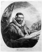 Jan Uytenbogaert, Preacher of the Remonstrants, 1635 (etching) mural wallpaper thumbnail