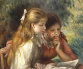 The Reading, c.1890-95 (oil on canvas) wallpaper mural thumbnail