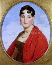 Portrait of Madame Aymon, or La Belle Zelie, 1806 (oil on canvas) (see also 83560) wall mural thumbnail
