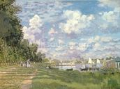 The Marina at Argenteuil, 1872 (oil on canvas) mural wallpaper thumbnail