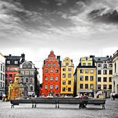 Stockholm Colourwash wall mural thumbnail