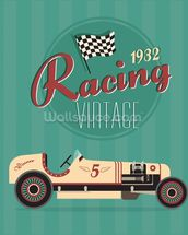 Vintage Racing Car wallpaper mural thumbnail