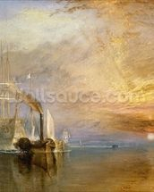 The Fighting Temeraire, 1839 (oil on canvas) wall mural thumbnail