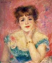 Portrait of the actress Jeanne Samary, 1877 (study) wallpaper mural thumbnail