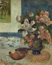 Still Life with a Mandolin, 1885 (oil on canvas) wallpaper mural thumbnail