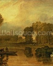 Eton College from the River, or The Thames at Eton, c.1808 wallpaper mural thumbnail