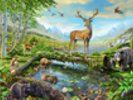 Wildlife Splendor US wall mural thumbnail