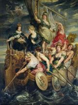 The Majority of Louis XIII (1601-43) 20th October 1614, 1621-25 (oil on canvas) mural wallpaper thumbnail