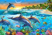 Dolphin Bay wallpaper mural thumbnail