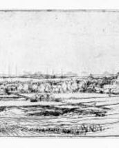 The Goldweighers Field near Haarlem, 1651 (etching) wall mural thumbnail