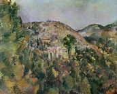 View of the Domaine Saint-Joseph, late 1880s (oil on canvas) wallpaper mural thumbnail