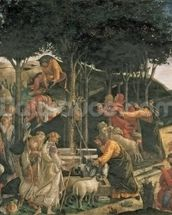 The Youth of Moses, in the Sistine Chapel, 1481 (fresco) (for detail see 315896) wallpaper mural thumbnail