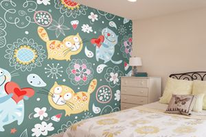 5 of our favourite happy cat wallpaper murals