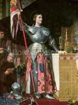 Joan of Arc (1412-31) at the Coronation of King Charles VII (1403-61) 17th July 1429, 1854 (oil on canvas) wallpaper mural thumbnail
