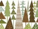 Forest Folklore Green Trees wall mural thumbnail