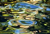 Abstract View Of Colorful Reflections On Calm Water wallpaper mural thumbnail