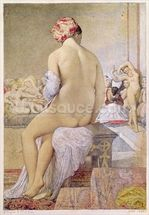 Odalisque or the Small Bather, 1864 (w/c on paper) wall mural thumbnail