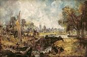Dedham Lock, c.1820 (oil on canvas laid down on panel) wallpaper mural thumbnail