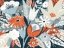 Vintage Bouquet Orange wall mural thumbnail